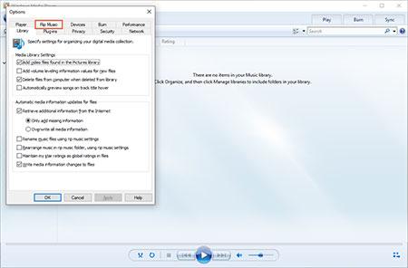 windows mediaplayer01 2 تبدیل فایلهای صوتی به Mp3 در مدیا پلیر ویندوز